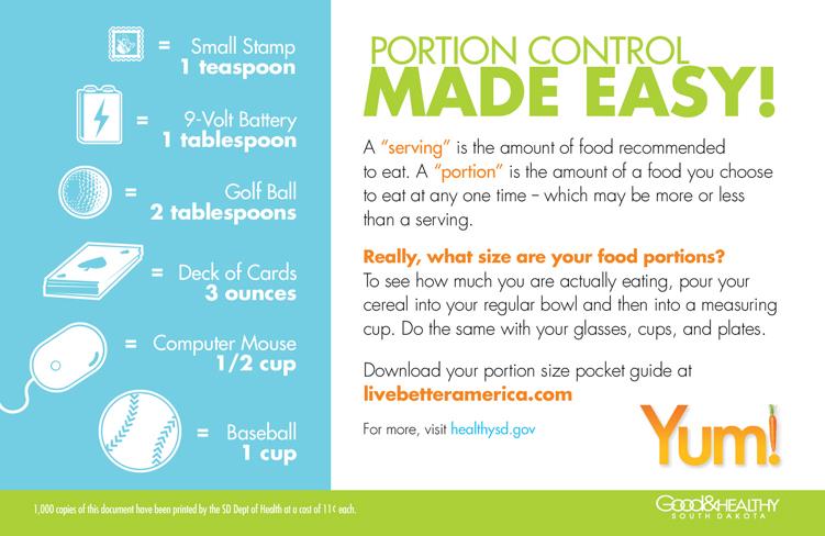 Portion Size Matters | HealthySD gov
