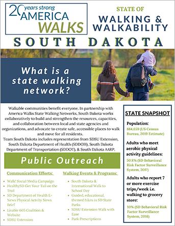 SD State of Walking & Walkability Fact Sheet PDF
